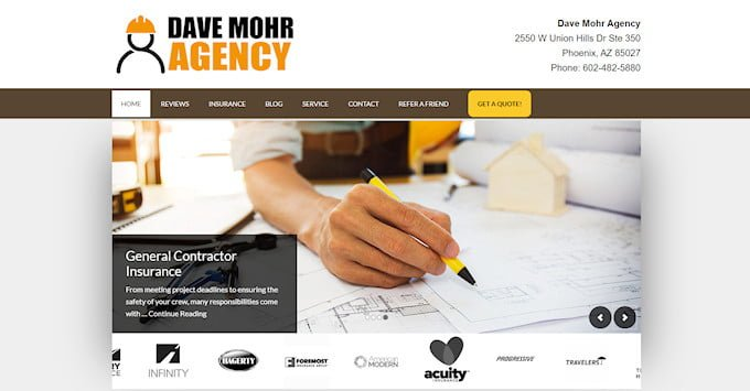 The New Dave Mohr Agency Website